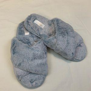 V.S. PINK Crossover Slippers M Light Blue Open Toe